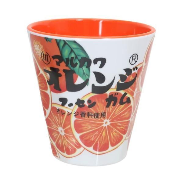マルカワ フーセンガム おやつパッケージ キャラクター プラコップ メラミンカップ オレンジ ティーズファクトリー