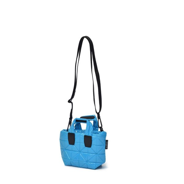 VeeCollective【ヴィーコレクティブ】トートバッグ VEE TOTE MICRO ATOMIC BLUE VINYL ナイロン ブルー