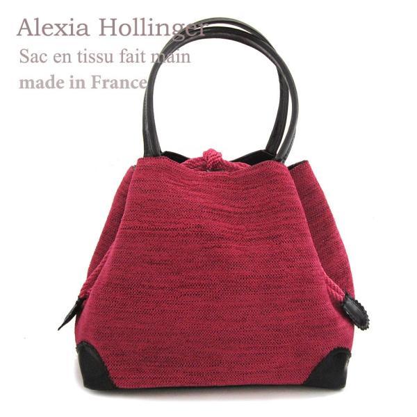 4b9b27bf13b6 Alexia Hollinger フランス製ハンドメイドバッグ・ワンスター ベルベット・ピンク|cinquieme ...
