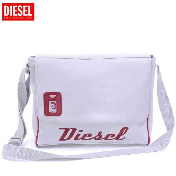 ディーゼル ショルダーバッグ 00XT63 ホワイト レッド DIESEL Shoulder Bag 00XT63 White Red|cio