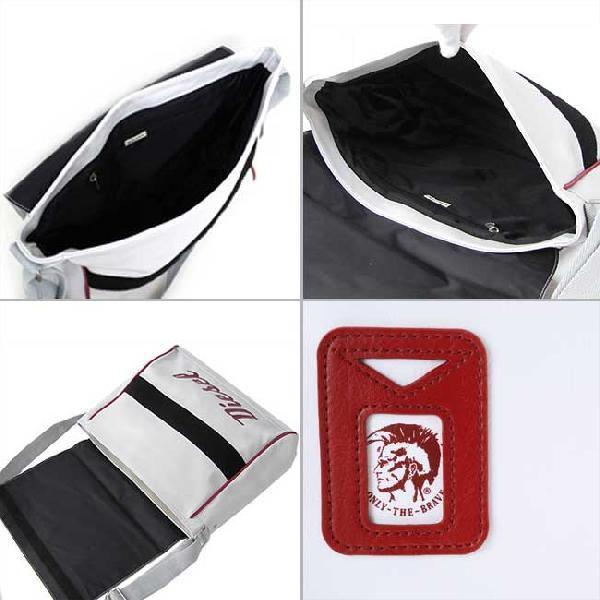ディーゼル ショルダーバッグ 00XT63 ホワイト レッド DIESEL Shoulder Bag 00XT63 White Red|cio|03