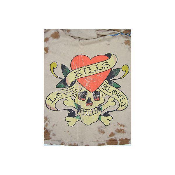 【SALE】Ed Hardy Mens Natural Aged Love Kill Slowly S/S Tee Beige エドハーディー メンズ ナチュラル エイジド ラブキルススローリー S/S Tシャツ ベージュ|cio|04