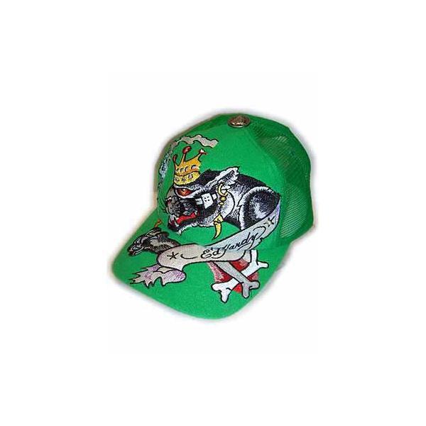 ED HARDY CAP RHINESTONE KEITH RICHARDS Green エドハーディー キャップ ラインストーン キースリチャード グリーン|cio