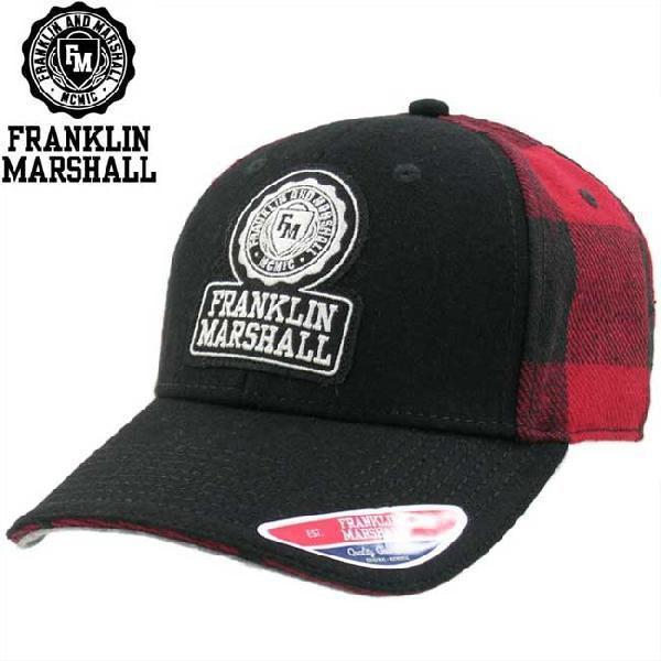 フランクリンアンドマーシャル ブロック チェック キャップ 1008036 レッド チェック FRANKLIN&MARSHALL BLOCK CHECK CAP 1008036 RED CHECK cio