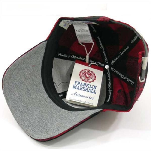 フランクリンアンドマーシャル ブロック チェック キャップ 1008036 レッド チェック FRANKLIN&MARSHALL BLOCK CHECK CAP 1008036 RED CHECK cio 04