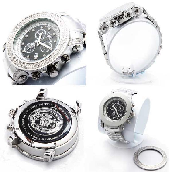 ジョーロデオ ジュニア クロノグラフ ダイアモンド ウォッチ JJU6 ブラック Joe Rodeo Junior Chronograph Diamond Watch JJU6|cio|02