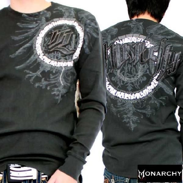 【SALE】モナーキー L/S Tシャツ シビライズド ブラック MONARCHY L/S TEE Civilized Black|cio