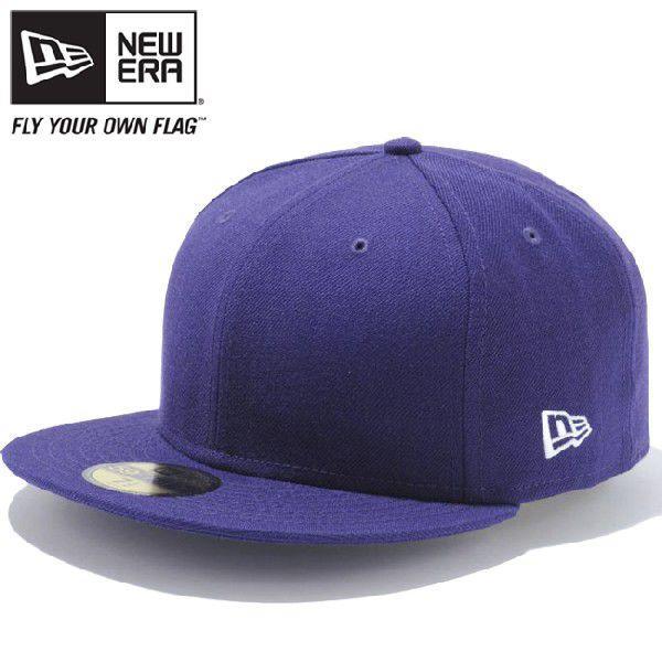 ニューエラ 5950キャップ プレーン ベーシック パープル New Era 59Fifty Cap Plain Basic Purple cio