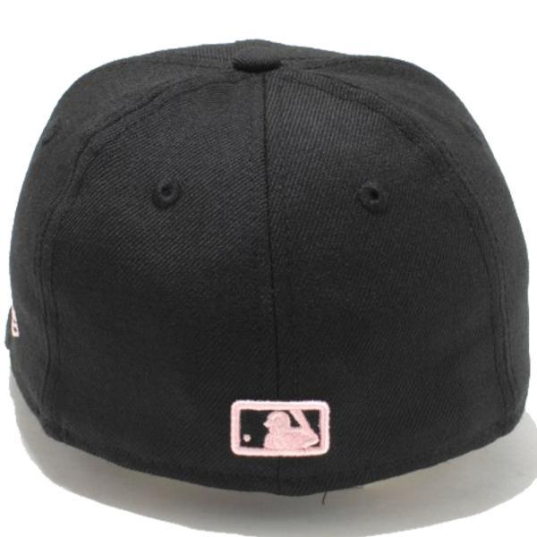 ニューエラ 5950キッズキャップ ピンク ロゴ ニューヨークヤンキース ブラック ピンク New Era 59FIFTY Kids Cap New York Yankees Pink Logo Black Pink|cio|03