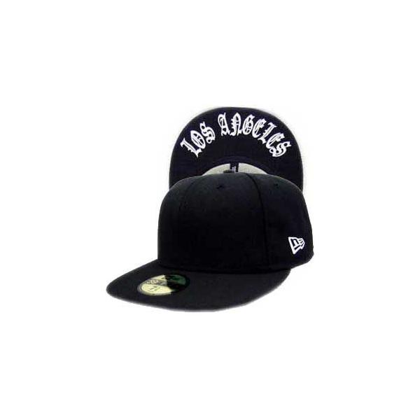ニューエラ キャップ アンダーバイザーシリーズ オールド ロサンゼルス ブラック プレーン/ホワイト New Era Cap UNDER VISOR Old LosAngeles BlackPlain/White|cio