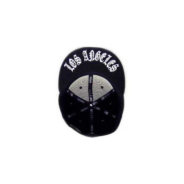 ニューエラ キャップ アンダーバイザーシリーズ オールド ロサンゼルス ブラック プレーン/ホワイト New Era Cap UNDER VISOR Old LosAngeles BlackPlain/White|cio|04