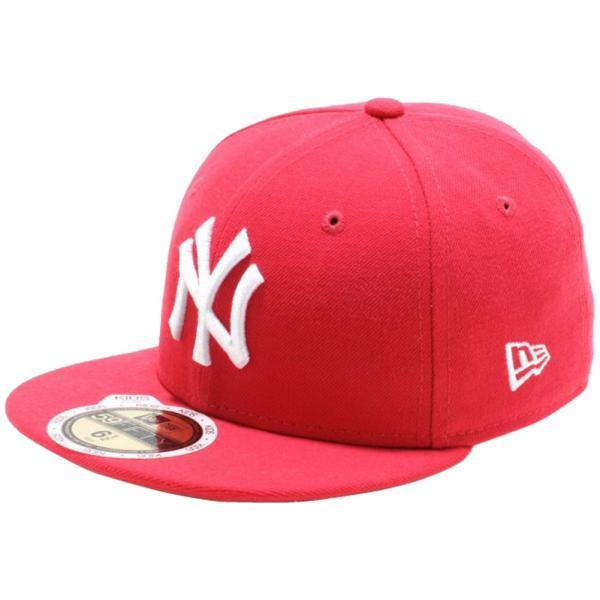 ニューエラ 5950キッズキャップ ホワイトロゴ ニューヨークヤンキース ローズ ホワイト New Era 59FIFTY Kids Cap White Logo New York Yankees Rose White|cio
