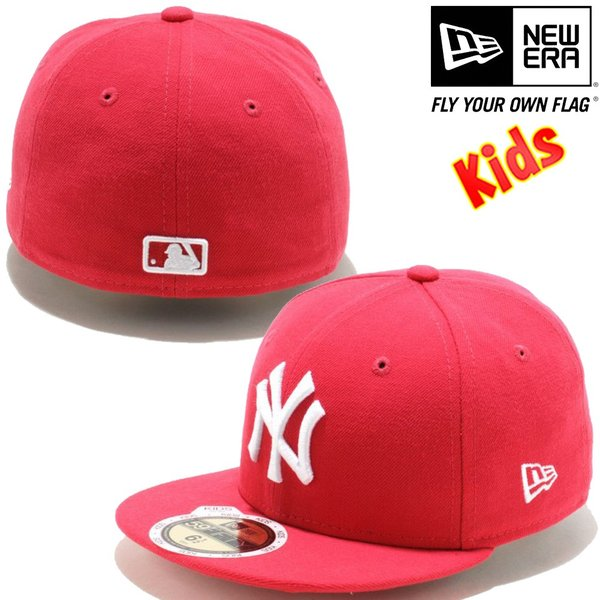 ニューエラ 5950キッズキャップ ホワイトロゴ ニューヨークヤンキース ローズ ホワイト New Era 59FIFTY Kids Cap White Logo New York Yankees Rose White|cio|02