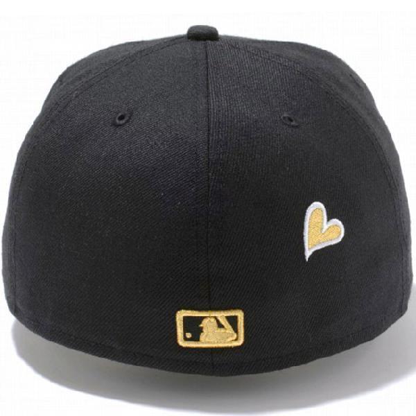 ニューエラ 5950キャップ ハートロゴコレクション ニューヨークヤンキース ブラック ゴールド New Era 59FIFTY Cap Heart Logo New York Yankees Black Gold|cio|02