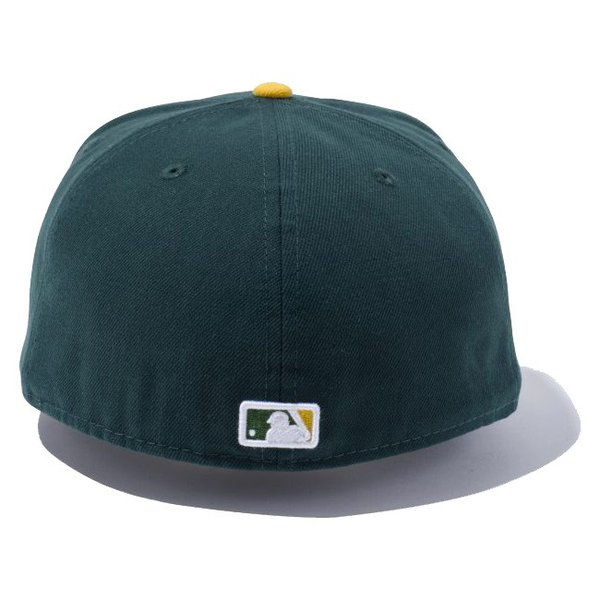 ニューエラ 5950キャップ オーセンティック オークランドアスレチックス ダークグリーン ゴールド ホワイト New Era 59Fifty Cap Oakland Athletics Dark Green|cio|02