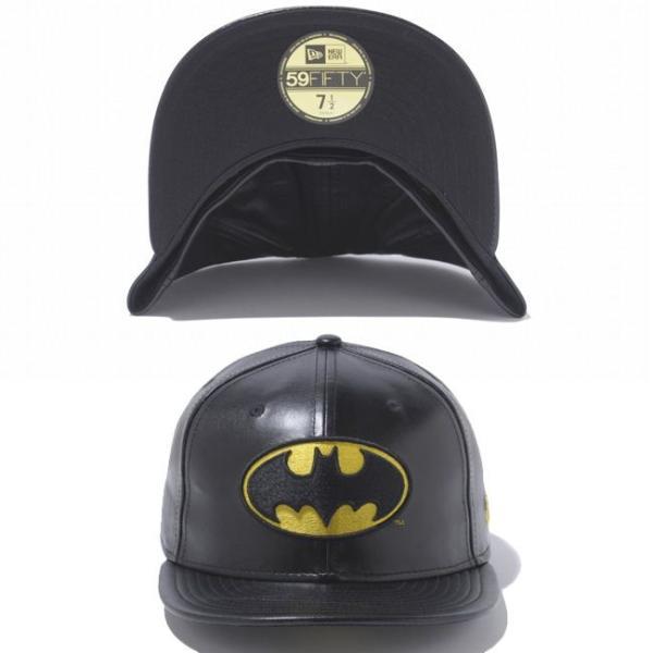 バットマン×ニューエラ 5950キャップ バットマンロゴ ブラックレザー ブラック ゴールド BATMAN×New Era 59FIFTY Cap Batman Logo Black Leather Black cio 02
