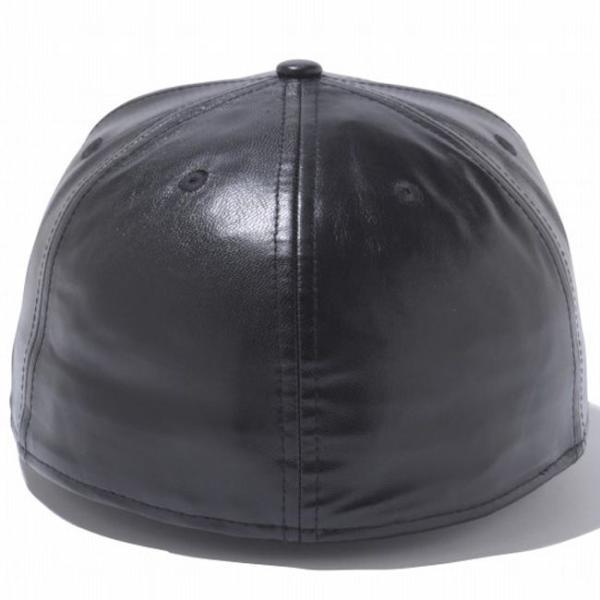 バットマン×ニューエラ 5950キャップ バットマンロゴ ブラックレザー ブラック ゴールド BATMAN×New Era 59FIFTY Cap Batman Logo Black Leather Black cio 03