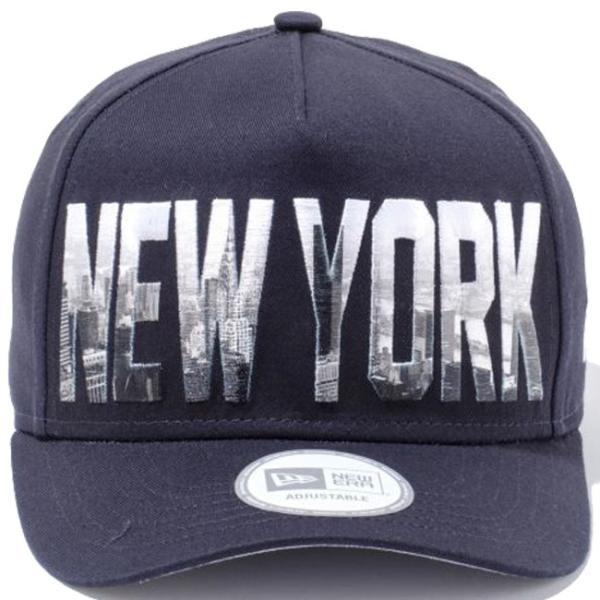 ニューエラ 940キャップ ディーフレームトラッカー シティーランドスケープ ニューヨーク ネイビー プリント スノーホワイト New Era 9Forty Landscape New York|cio|03
