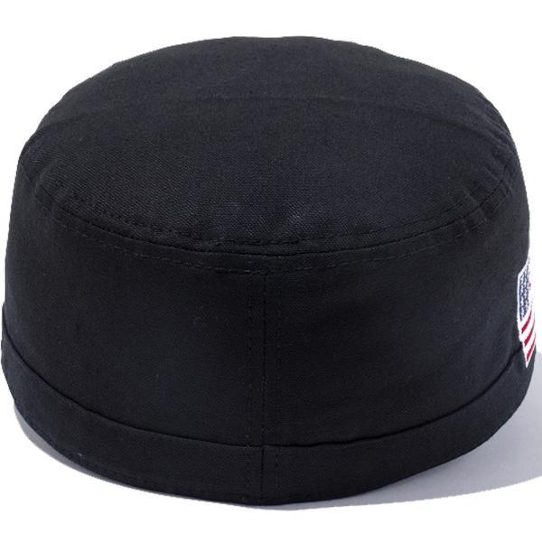 ニューエラ ワークキャップ WM01 ダック キャンバス ユーエスエー フラッグ ブラック スノーホワイト New Era Work Cap WM01 Duck Canvas USA Flag Black White|cio|03