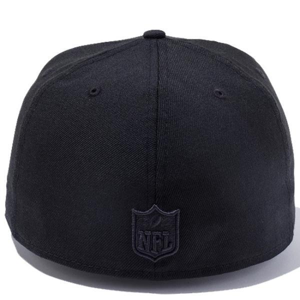 ニューエラ 5950キャップ ブラックロゴ NFLカスタム オークランド レイダース ブラック New Era 59Fifty Cap Black Logo NFL Custom Oakland Raiders Black|cio|03