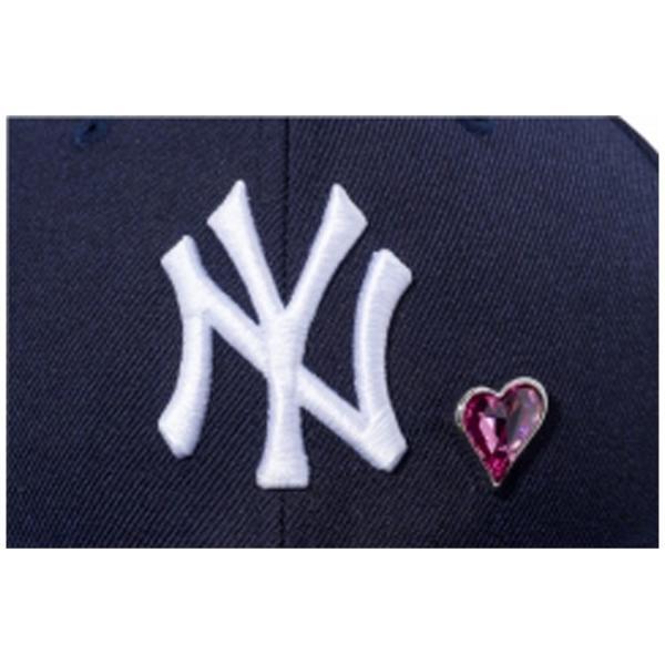スワロフスキー(R)エレメンツ×ニューエラ 5950キャップ ホワイトロゴ ハート ヤンキース ネイビー Swarovski×New Era 59Fifty White Logo Heart Yankees Navy|cio|02