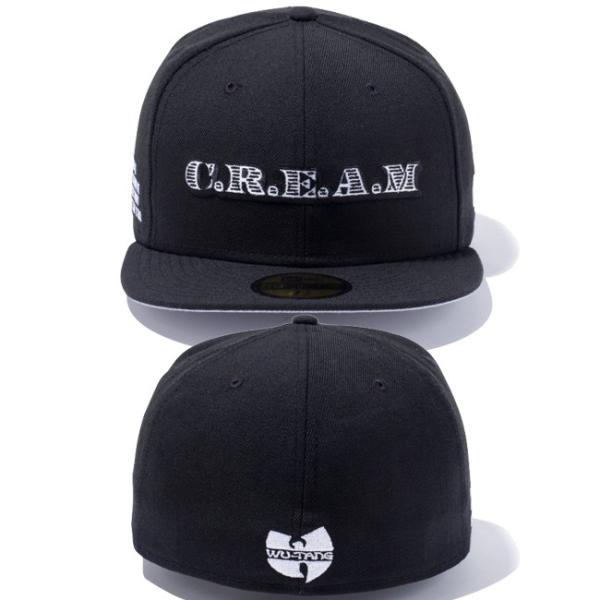 ウータンクラン×ニューエラ 5950キャップ ブラックロゴ ウータンクラン C.R.E.A.M ブラック ホワイト Wu-Tang Clan×New Era 59Fifty Black Logo C.R.E.A.M|cio|03