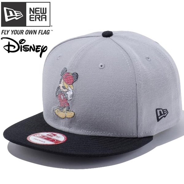ディズニー×ニューエラ 950 スナップバック ミッキー グレー ブラック スパンコール オフィシャル ホワイト Disney×New Era 9Fifty Snap Back Mickey cio