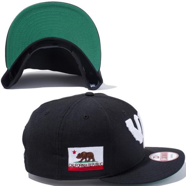 ニューエラ 950キャップ カリフォルニアリパブリック ウエストコースト ブラック スノーホワイト New Era 9FIFTY Cap CALIFORNIA REPUBLIC West Coastn Black cio 02