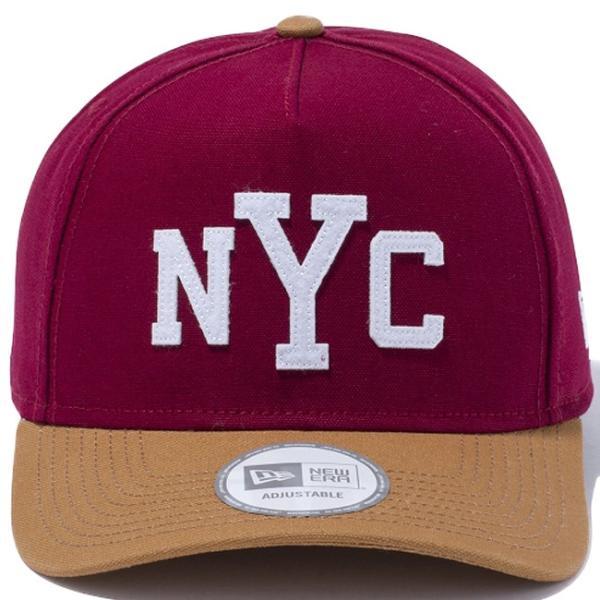 ニューエラ 940 エーフレームトラッカー ダックキャンバス ニューヨークシティ カーディナル ホワイト New Era 9Forty A-Frame Trucker Duck Canvas New York cio 02