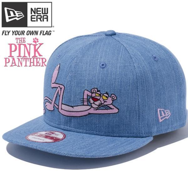 ピンクパンサー×ニューエラ 950 スナップバック ウォッシュドデニム オフィシャルカラー ローズ Pink Panther×New Era 9Fifty Snap Back Denim Rose|cio