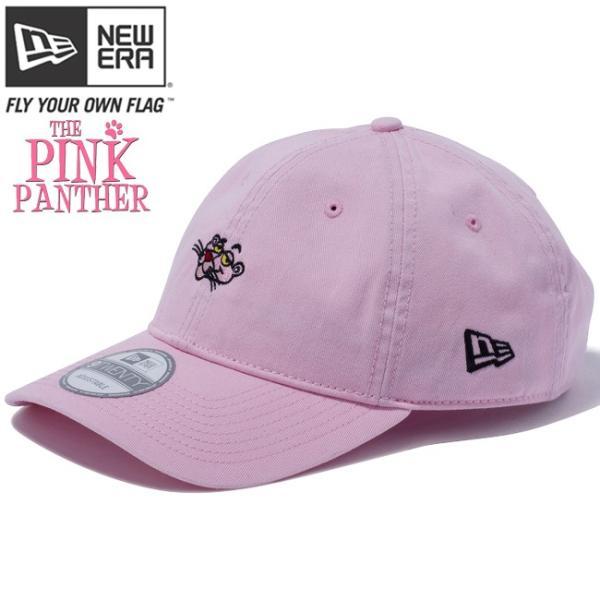 ピンクパンサー×ニューエラ 920 キャップ ミニ キャラクター ピンク オフィシャルカラー ブラック Pink Panther×New Era 9Twenty Cap Mini Character Pink|cio