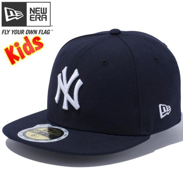 ニューエラ 5950キッズキャップ チーム ストラクチャー フィッティド ニューヨーク ヤンキース New Era 59FIFTY Kids Cap Team Fitted New York Yankees cio