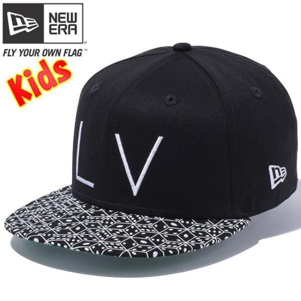 ニューエラ 950 スナップバック キッズ キャップ LVロゴ ダイス ブラック ダイス ホワイト New Era 9Fifty Snap Back Kids Cap LV Logo Dice Black Dice cio