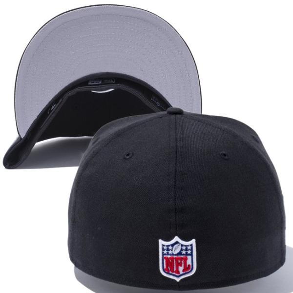 ニューエラ 5950キャップ ブラックロゴ NFLカスタム ヒートシール オークランド レイダース New Era 59Fifty Cap Black Logo NFL Heat Seal Oakland Raiders|cio|02