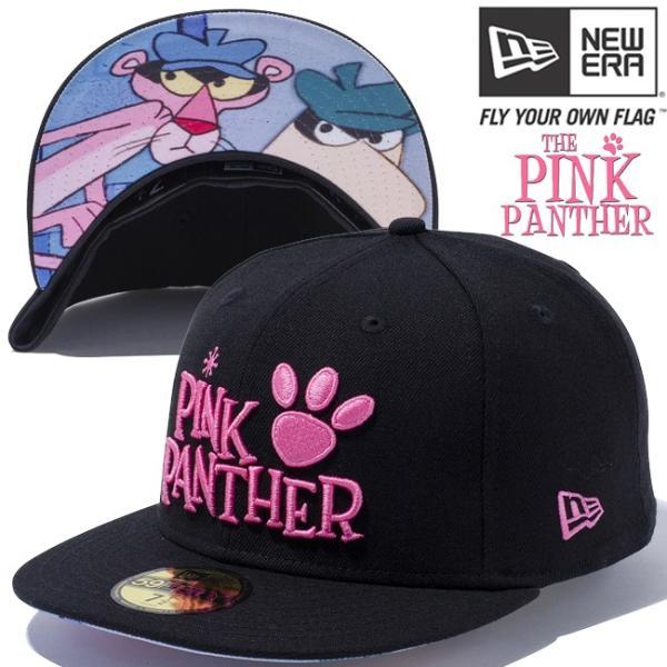 ピンクパンサー×ニューエラ 5950キャップ アンダーバイザー ロゴ ブラック ブラック Pink Panther×New Era 59Fifty Cap Under Visor Logo Black cio