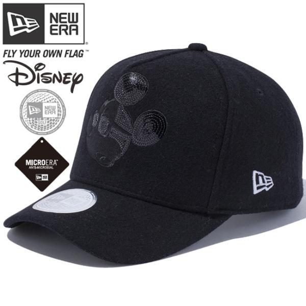 ディズニー×ニューエラ 940キャップ ゴルフ ディーフレーム ブラックロゴ シークインド ミッキーマウス Disney×New Era 9FORTY Cap Golf D-Frame Black Logo|cio