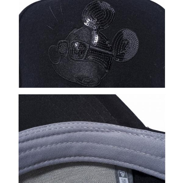 ディズニー×ニューエラ 940キャップ ゴルフ ディーフレーム ブラックロゴ シークインド ミッキーマウス Disney×New Era 9FORTY Cap Golf D-Frame Black Logo|cio|03