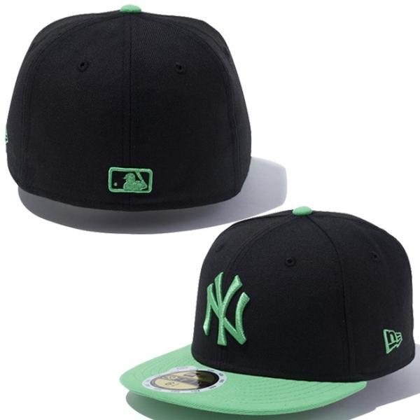 ニューエラ 5950キッズキャップ ツートーンボディ MLB ニューヨークヤンキース ブラック グリーン New Era 59FIFTY Kids Cap 2Tone Body MLB New York Yankees|cio|03