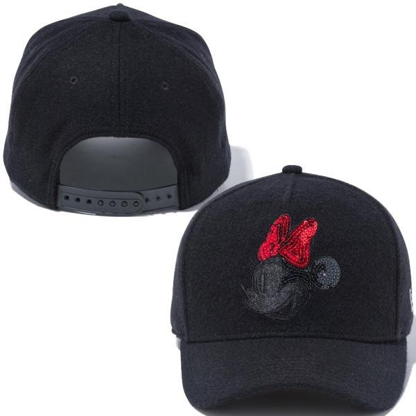 ディズニー×ニューエラ 940キャップ ゴルフ シークインド レトロ ミニーマウス ブラックメルトン Disney×New Era 9FORTY Golf Sequined Retro Minnie Mouse|cio|03