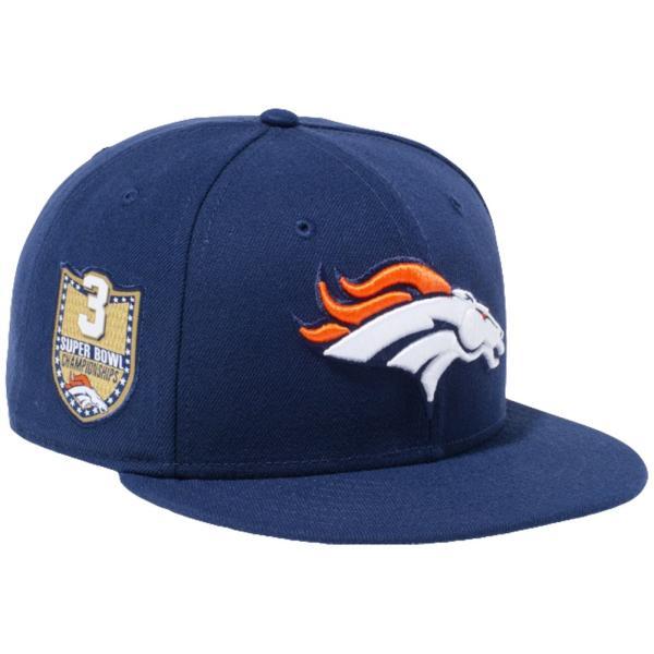 ニューエラ 950 スナップバック キャップ NFLカスタム デンバーブロンコス オーシャンサイドブルー New Era 9FIFTY Snapback Cap NFL Custom Denver Broncos|cio