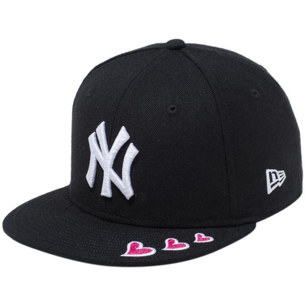 ニューエラ 950キッズ スナップバック キャップ レッドハート ニューヨークヤンキース ブラック New Era 9FIFTY Kids Snapback Cap Red Heart New York Yankees|cio