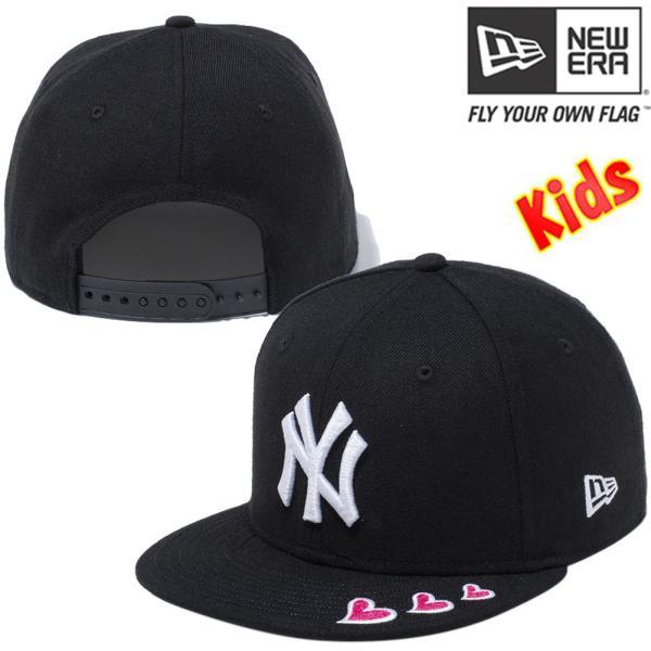 ニューエラ 950キッズ スナップバック キャップ レッドハート ニューヨークヤンキース ブラック New Era 9FIFTY Kids Snapback Cap Red Heart New York Yankees|cio|02