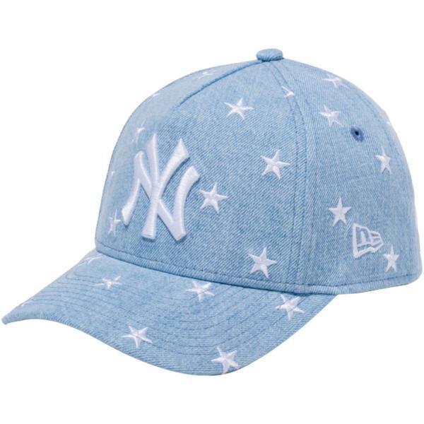 ニューエラ 940 スナップバック キッズ キャップ エーフレームトラッカー スターズ ニューヨークヤンキース ウォッシュドデニム ホワイト New Era 9FORTY|cio