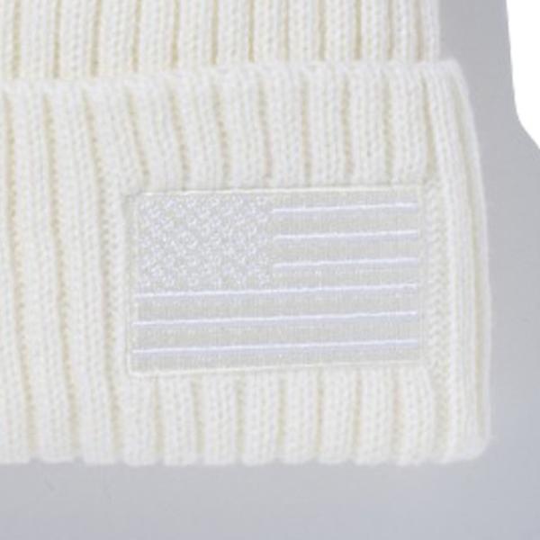 ニューエラ ニットキャップ ミリタリーニット スターズアンドストライプス アイボリー クローム New Era Military Knit Stars & Stripes Ivory|cio|03