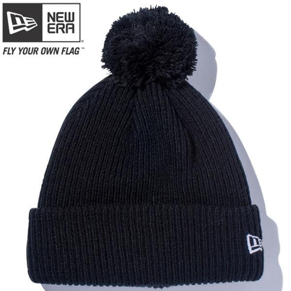 ニューエラ ニットキャップ ポンポンニット ブラック スノーホワイト New Era Knit Cap Pom-Pon Knit Black Snow White cio
