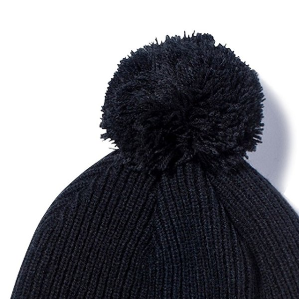 ニューエラ ニットキャップ ポンポンニット ブラック スノーホワイト New Era Knit Cap Pom-Pon Knit Black Snow White cio 02
