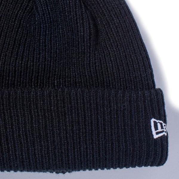 ニューエラ ニットキャップ ポンポンニット ブラック スノーホワイト New Era Knit Cap Pom-Pon Knit Black Snow White cio 03