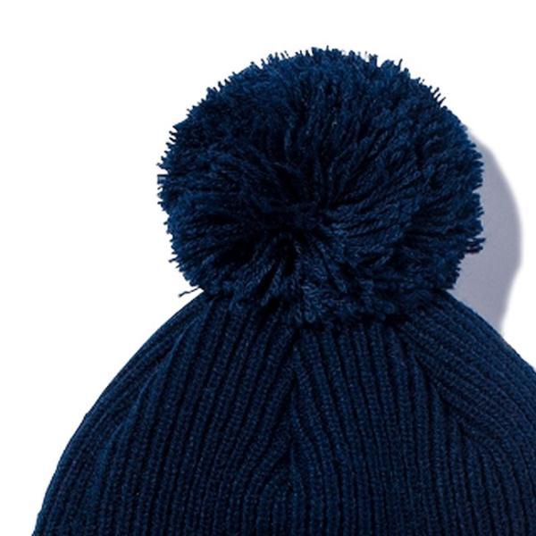 ニューエラ ニットキャップ ポンポンニット ネイビー スノーホワイト New Era Knit Cap Pom-Pon Knit Navy Snow White|cio|03