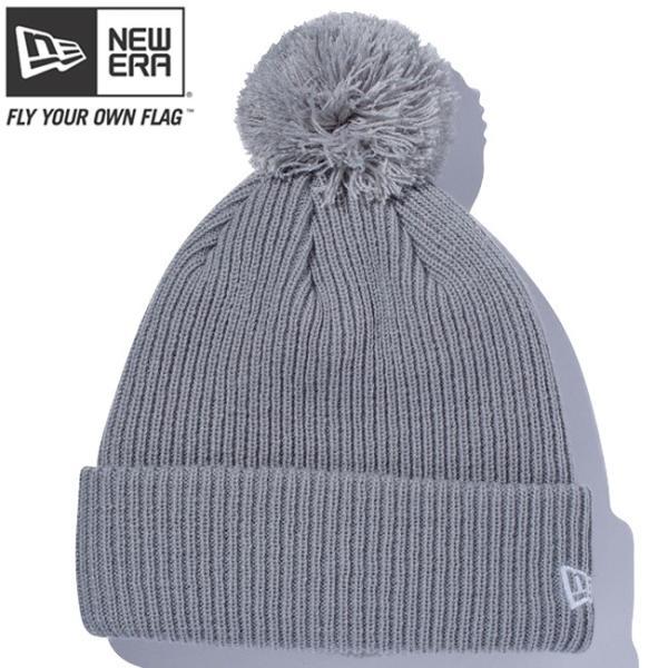 ニューエラ ニットキャップ ポンポンニット ライトグレー スノーホワイト New Era Knit Cap Pom-Pon Knit Light Gray Snow White|cio