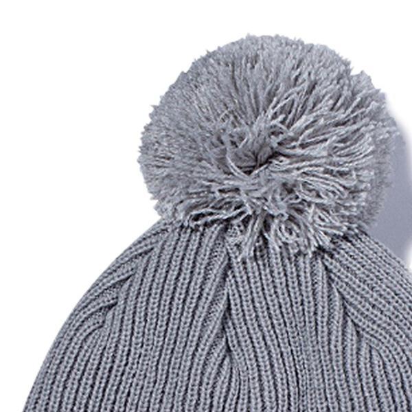 ニューエラ ニットキャップ ポンポンニット ライトグレー スノーホワイト New Era Knit Cap Pom-Pon Knit Light Gray Snow White|cio|02